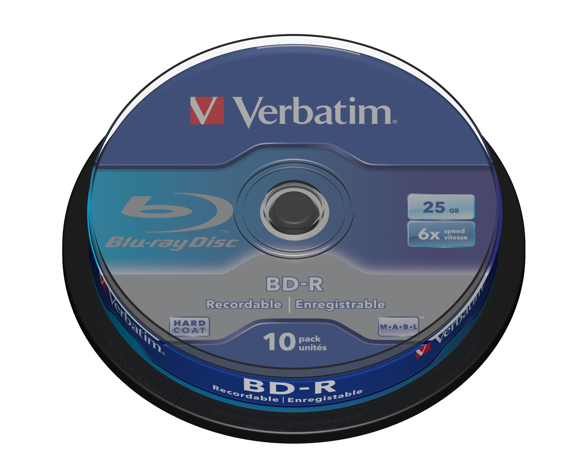VERBATIM 43742 BD-R SL 25GB 6 X 10 PACK SPINDLE 10PC(S)
