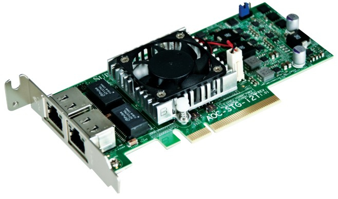 SUPERMICRO AOC-STG-I2T INTERNAL ETHERNET NETWORKING CARD