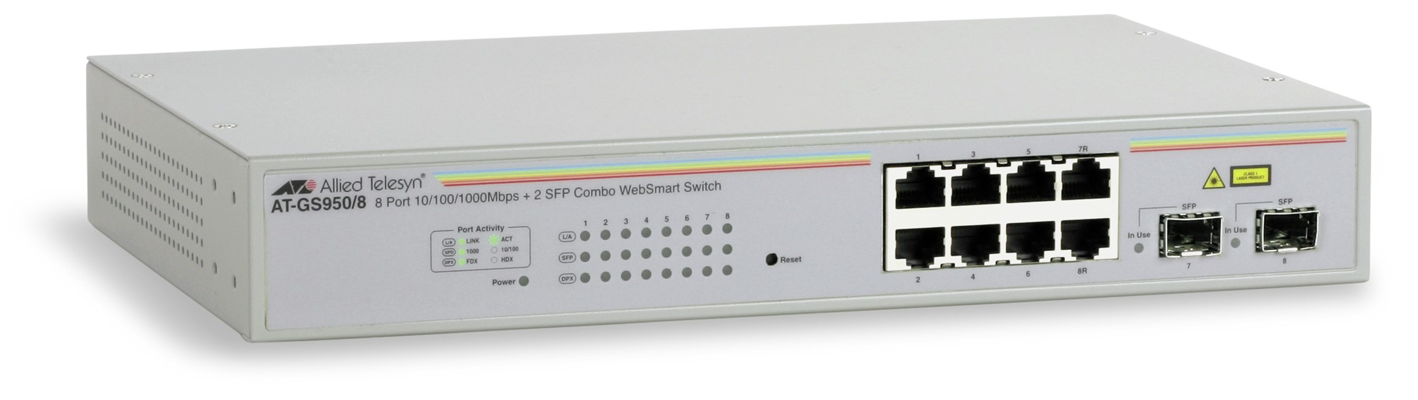 ALLIED TELESIS AT-GS950/8-50 AT-GS950 - 8-50 MANAGED NETWORK SWITCH