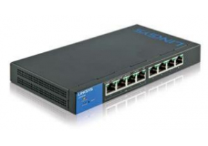 LINKSYS LGS308 MANAGED NETWORK SWITCH GIGABIT ETHERNET BLACK, BLUE