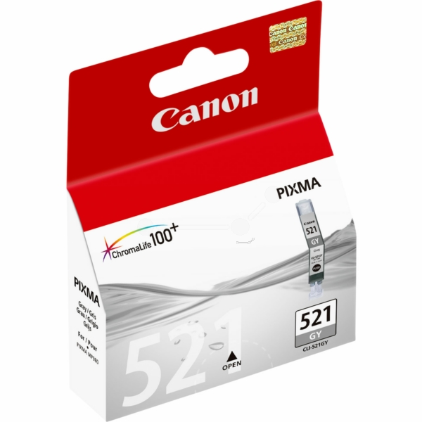 CANON 2937B001 (521 GY) INK CARTRIDGE GRAY, 1.37K PAGES, 9ML