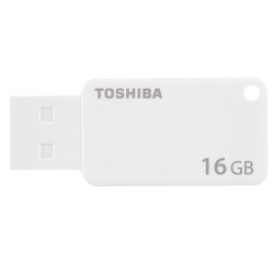 TOSHIBA TRANSMEMORY U303 16GB USB 3.0 (3.1 GEN 1) TYPE-A CONNECTOR WHITE FLASH DRIVE