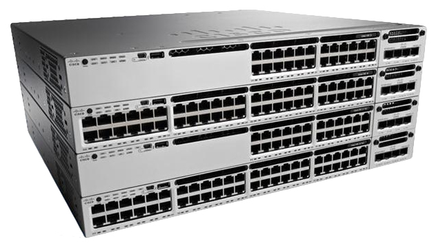 CISCO WS-C3850-24P-E CATALYST MANAGED POWER OVER ETHERNET (POE) BLACK, GREY NETWORK SWITCH