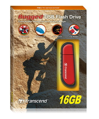TRANSCEND V SERIES JETFLASH V70, 16GB USB 2.0 TYPE-A CONNECTOR RED FLASH DRIVE