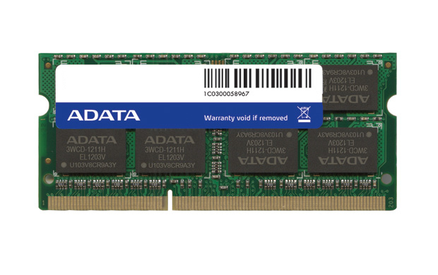 ADATA DDR3, 1600MHZ 204-PIN, SO-DIMM, 4GB DDR3 MEMORY MODULE