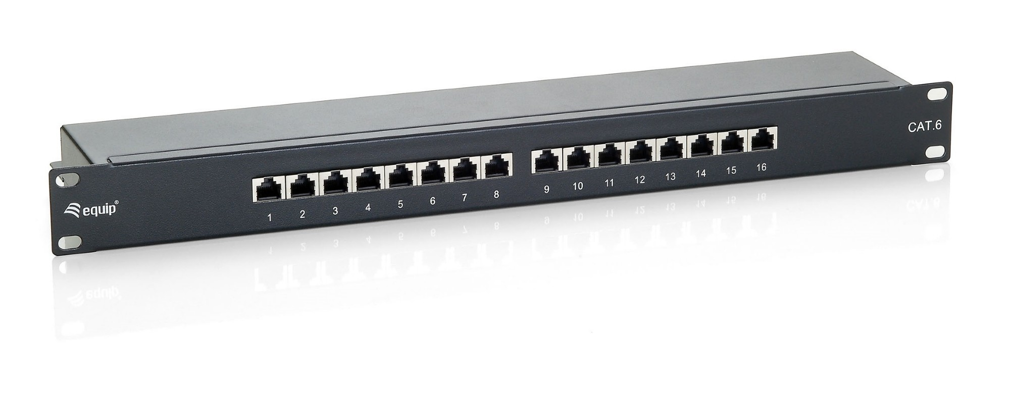 EQUIP 326416 16-PORT CAT.6 SHIELDED PATCH PANEL