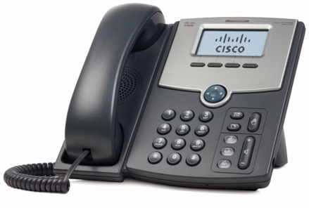 CISCO SPA512G WIRED HANDSET 1LINES LCD BLACK, SILVER IP PHONE