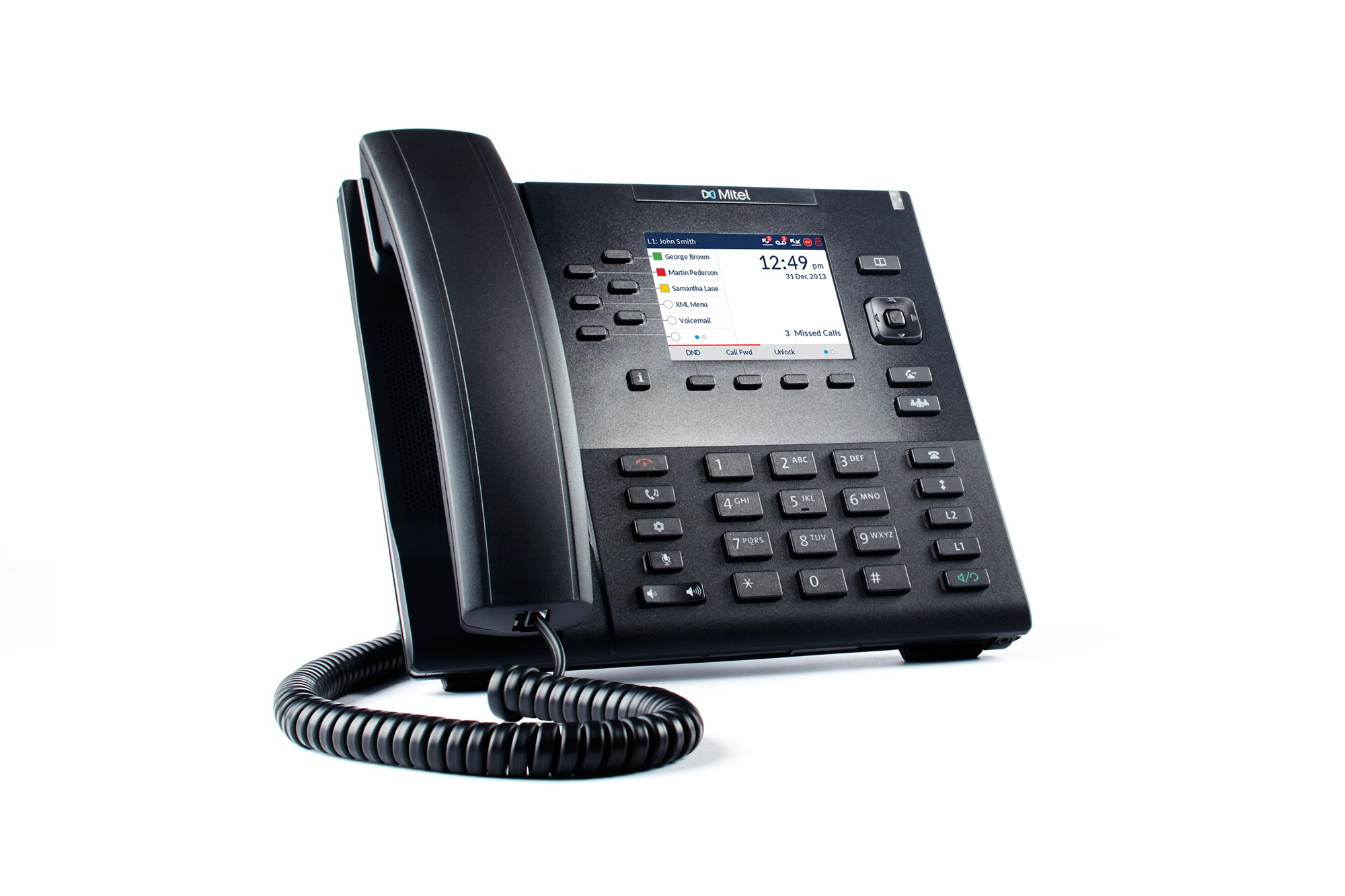 MITEL 80C00002AAA-A WIRED HANDSET 9LINES LCD BLACK IP PHONE