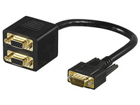 MICROCONNECT MONG2F1M MONG2F1M, SVGA MALE TO 2 X FEMALE