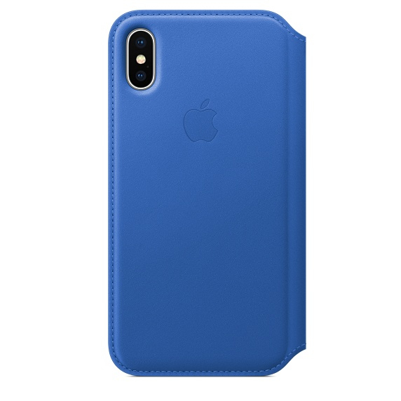 APPLE IPHONE X LEATHER FOLIO - ELECTRIC BLUE