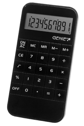 GENIE CCTV 12121G VALUE 40 B 10-DIGIT POCKET CALCULATOR 12121