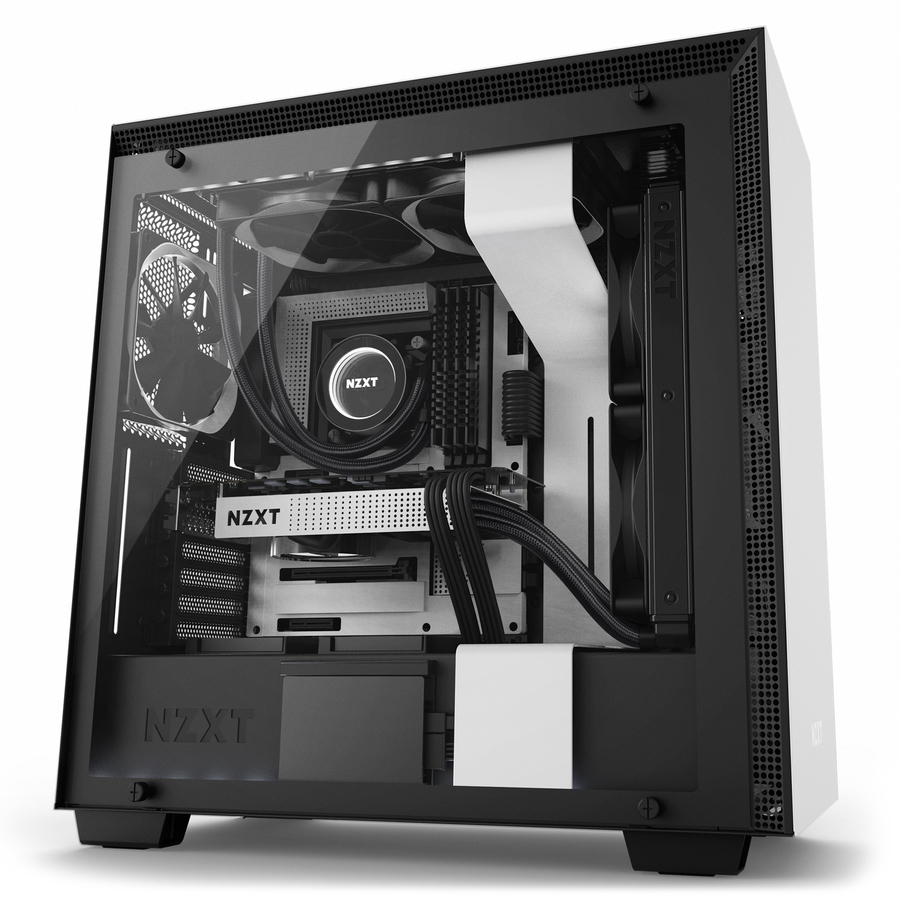 NZXT CA-H700W-WB H700I MIDI-TOWER WHITE COMPUTER CASE
