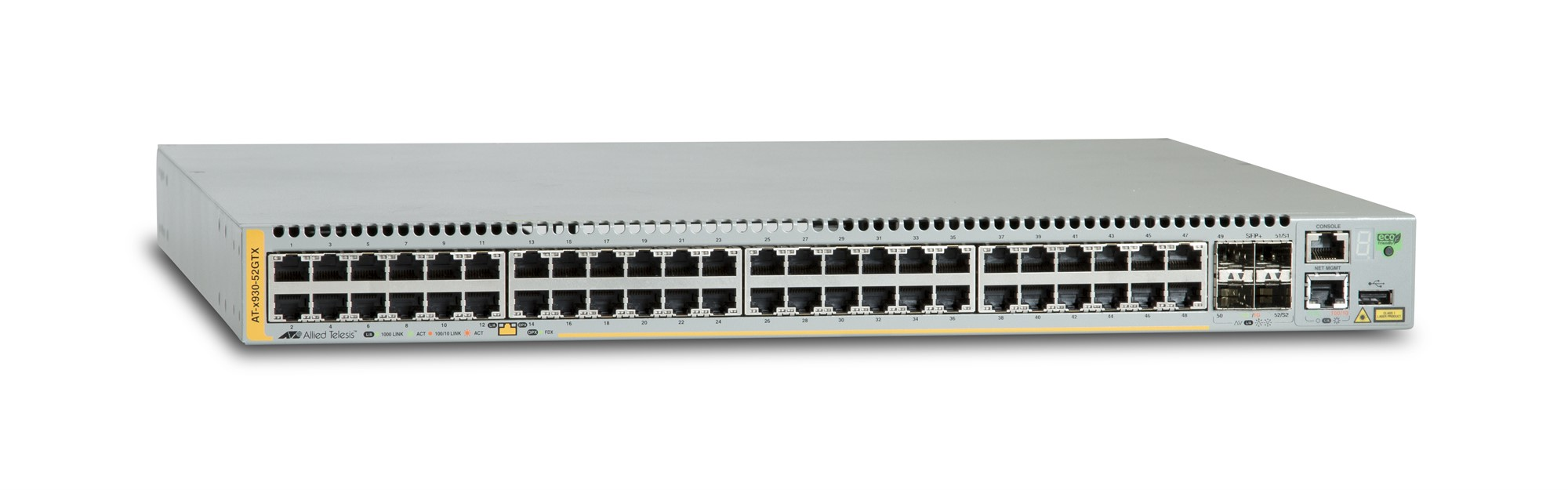 ALLIED TELESIS AT-X930-52GTX MANAGED NETWORK SWITCH L3 GIGABIT ETHERNET (10 - 100 1000) GREY