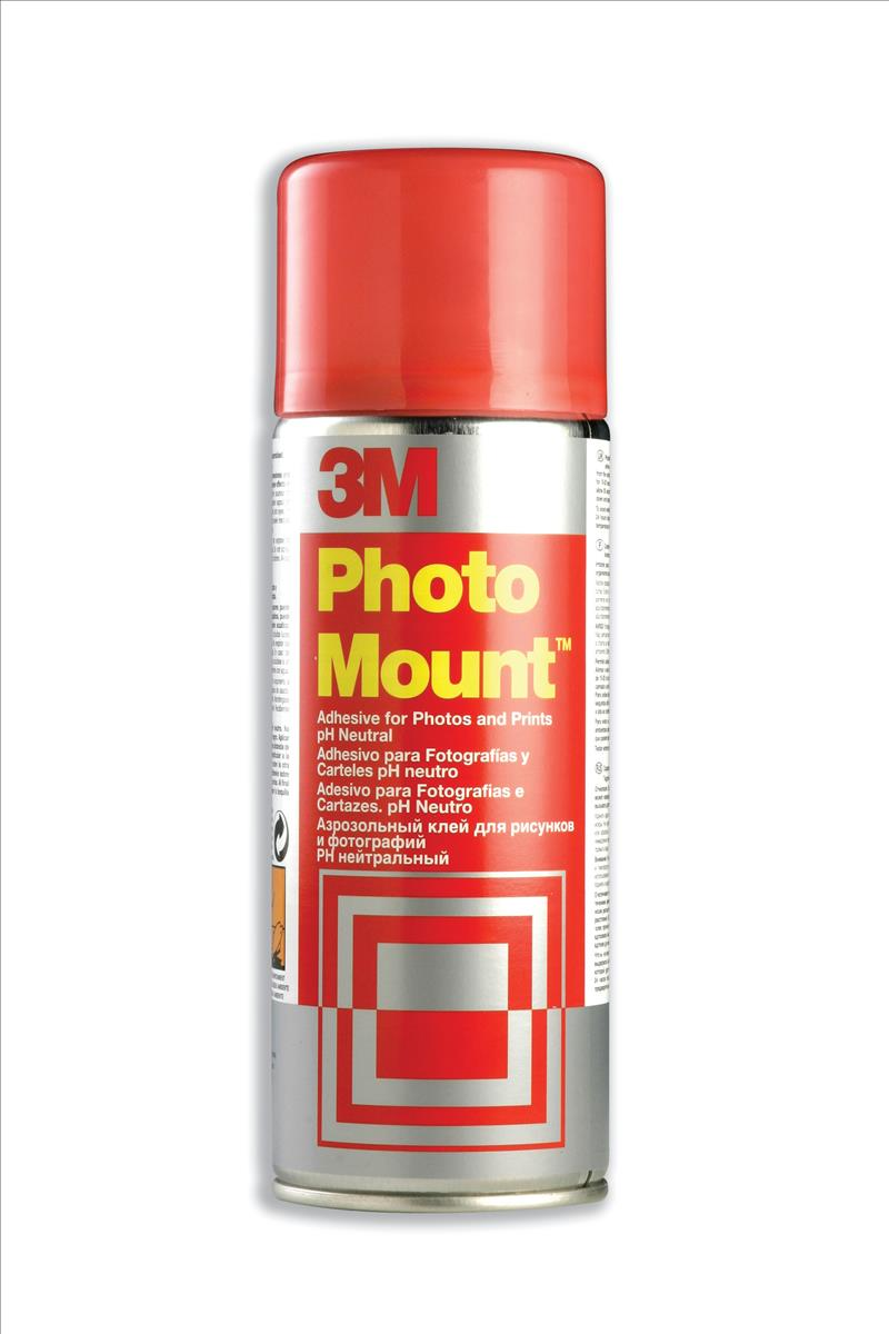 3M PHOTOMOUNT ADHESIVE SPRAY CAN CFC-FREE NON-YELLOWING 400ML PMOUNT