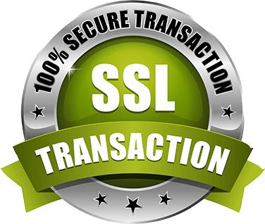 100% SSL Secure transactions