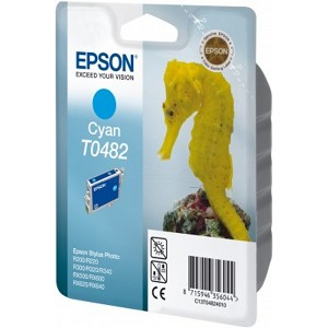 EPSON C13T04824010 (T0482) INK CARTRIDGE CYAN, 400 PAGES @ 5% COVERAGE, 13ML