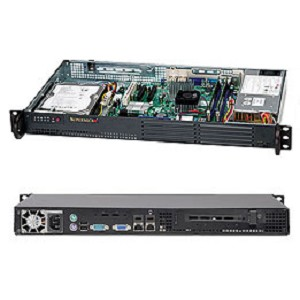 SUPERMICRO CSE-502L-200B 1U BLACK SERVER BAREBONE