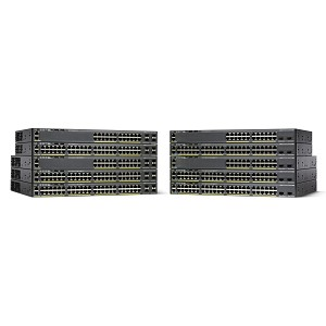 CISCO WS-C2960X-48LPD-L CATALYST MANAGED L2 GIGABIT ETHERNET POWER OVER (POE) BLACK NETWORK SWITCH