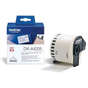 BROTHER DK-44205 P-TOUCH ETIKETTES, 62MM X 30,48M