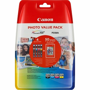 CANON 4540B017 (526) INK CARTRIDGE MULTI PACK, 450 PAGES, 9ML, PACK QTY 3