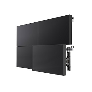 "SMS SMART MEDIA SOLUTIONS PW010020 MULTI DISPLAY WALL + 60"" ALUMINIUM, BLACK"