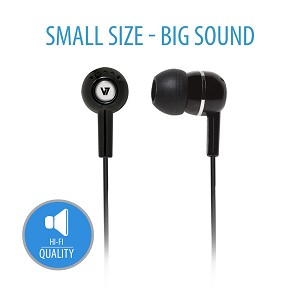 V7 HA100-2EP NOISE ISOLATING STEREO EARBUDS