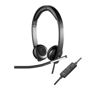 LOGITECH H650E BINAURAL HEAD-BAND BLACK, SILVER HEADSET