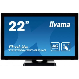 "IIYAMA PROLITE T2236MSC 21.5"" 1920 X 1080PIXELS MULTI-TOUCH BLACK TOUCH SCREEN MONITOR"
