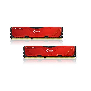 TEAM GROUP TLRED316G1600HC9DC01 VULCAN DDR3, 2X 8GB (16GB), 1600MHZ, 1.5V, ALUMINUM HEAT-SINK, RED