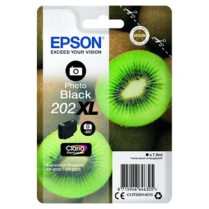 EPSON C13T02H14010 (202XL) INK CARTRIDGE BRIGHT BLACK, 800 PAGES, 8ML