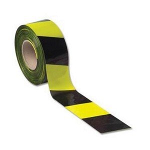LSM 006-0107 BARRIER TAPE 75MM X 500M YELLOW/BLACK