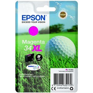 EPSON C13T34734010 (34XL) INK CARTRIDGE MAGENTA, 950 PAGES, 11ML