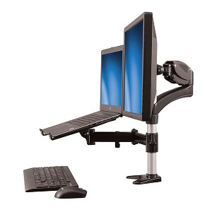"STARTECH ARMUNONB SINGLE-MONITOR ARM - LAPTOP STAND ONE-TOUCH HEIGHT ADJUSTMENT SUPPORTS A SINGLE MONITOR UP TO 27"" AND"