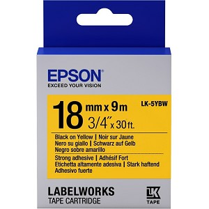 EPSON C53S655010 (LK-5YBW) RIBBON, 18MM X 9M
