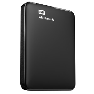 WESTERN DIGITAL WD ELEMENTS PORTABLE 500GB BLACK EXTERNAL HARD DRIVE